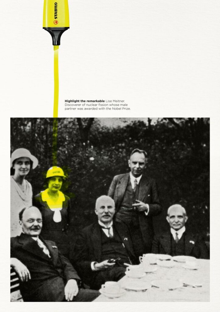 """Highlight the remarkable"": an ad by Stabilo, making use of our preference for individual stories."