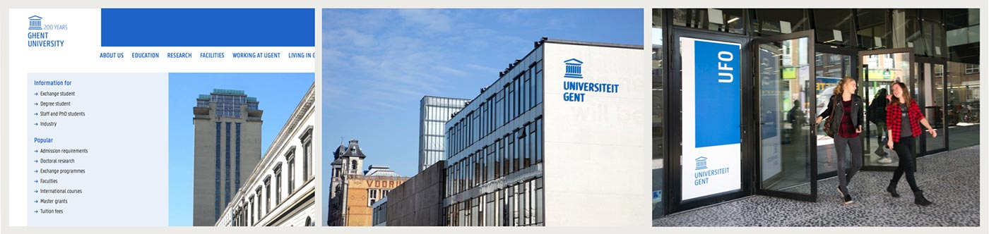 The website took the lead when the university developed its new corporate identity.