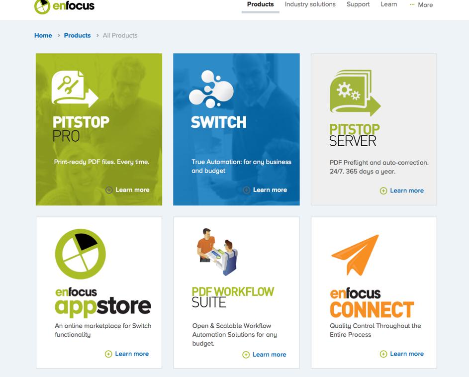 Enfocus biedt nu ook maandelijkse en jaarlijkse subscriptions, naast eeuwigdurende licenties.