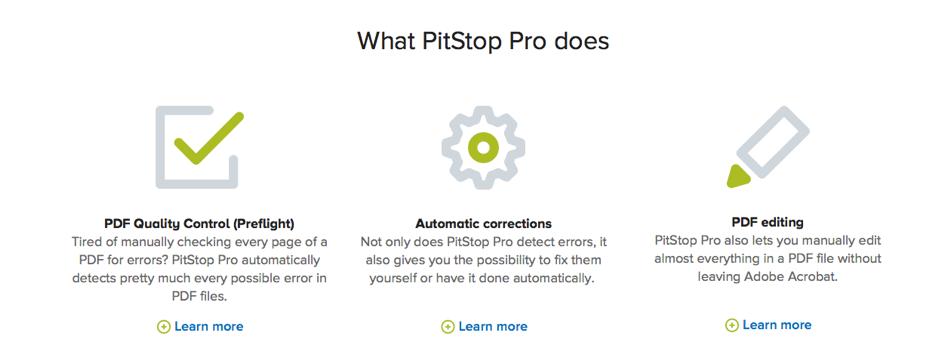 Het paradepaardje van Enfocus is PitStop Pro, de best verkochte pdf-tool voor Acrobat.