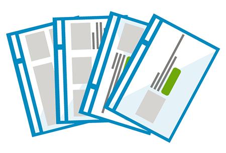 Wireframes en mock-ups van elk paginatype