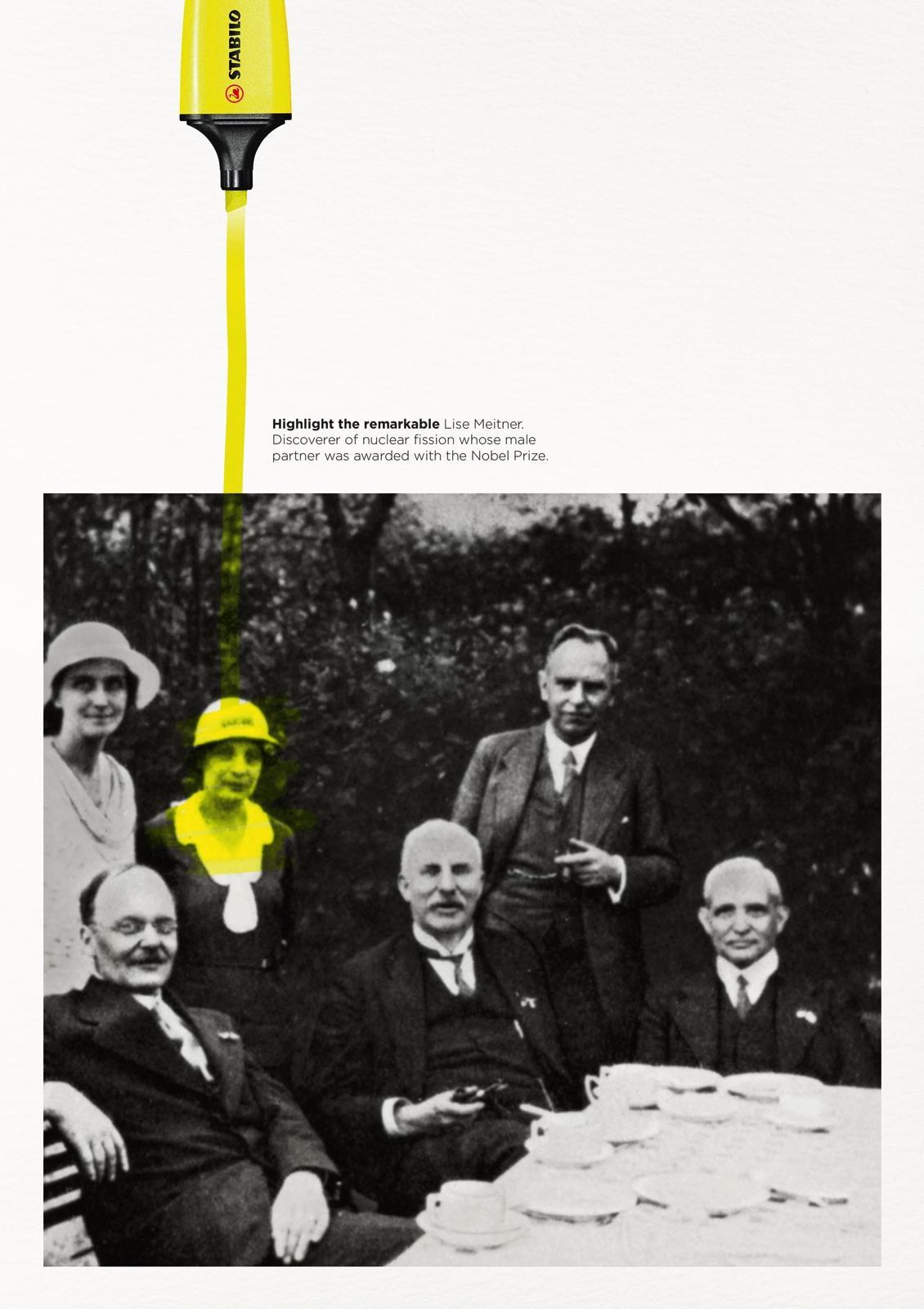 """""""Highlight the remarkable"""": een advertentie van Stabilo, die gebruikmaakt van onze voorkeur voor individuele verhalen."""