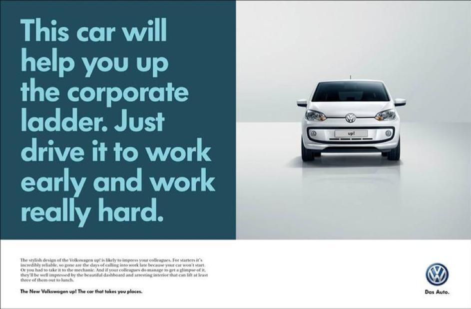 Volkswagen bewijst dat copy eenvoudig en geniaal kan zijn