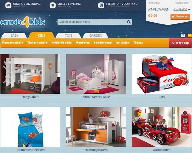 Homepage met populaire productcategorieën in plaats van een slider