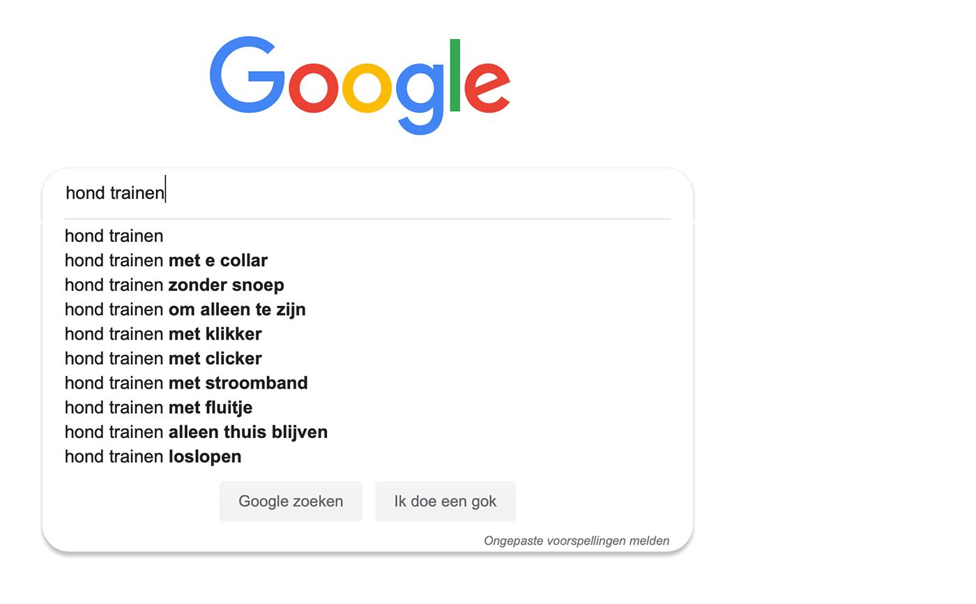 Als je bij je keyword research start met je product, blijf je vaak steken bij de voor de hand liggende zoektermen.