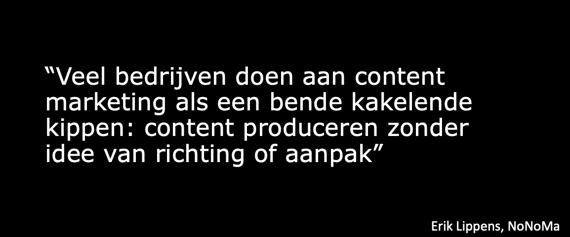 Quote van Eric Lippens over content marketing