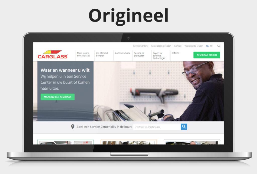 Originele homepage van Carglass®