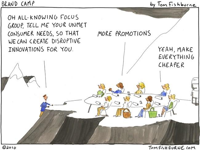 Focusgroepen zijn waardeloos