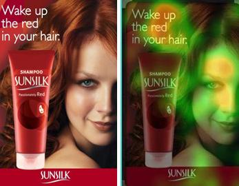 Eyetracking reclame: de foto's