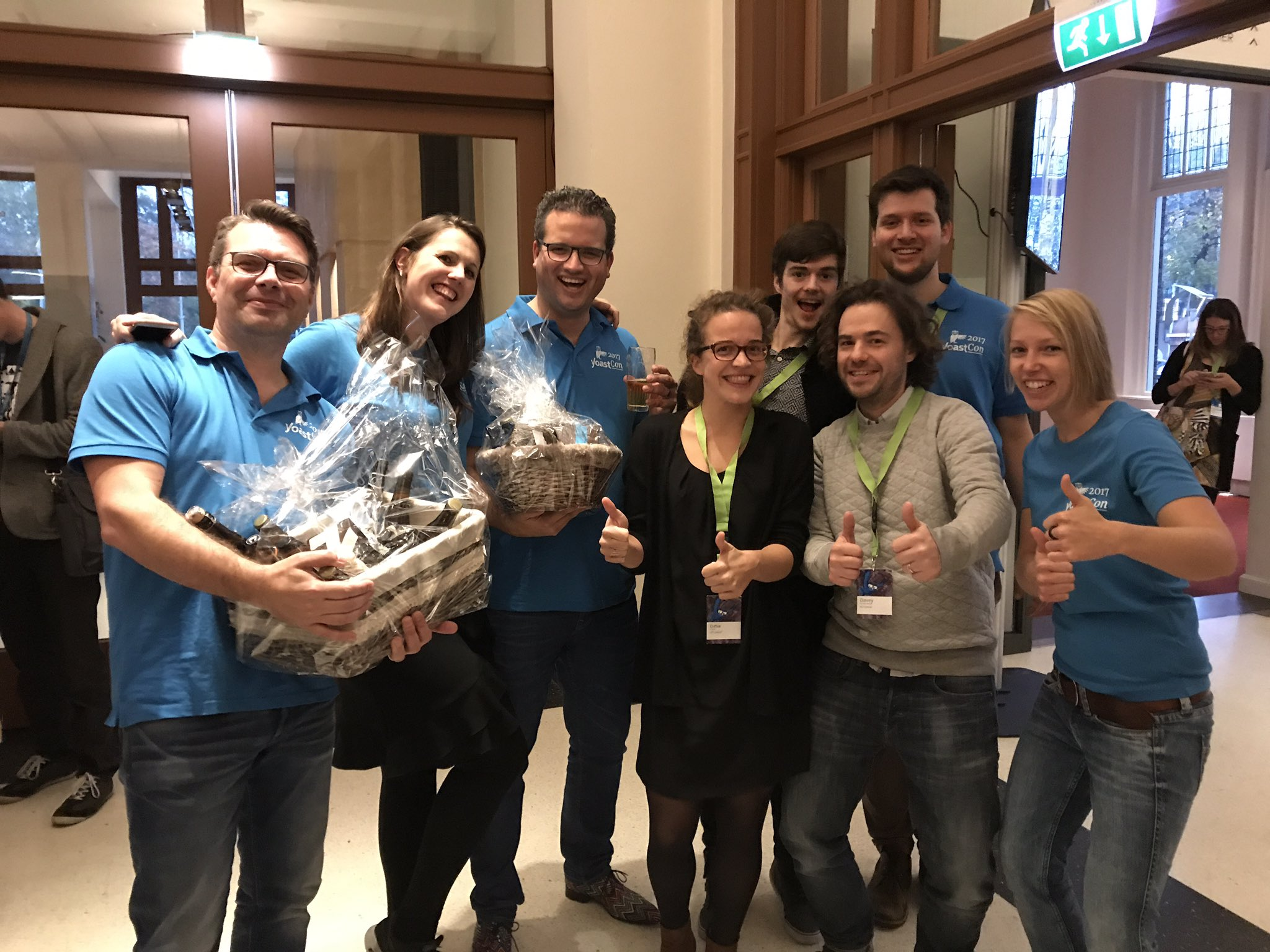 Yoast with their 'own conversion department' at YoastCon on November 2, 2017