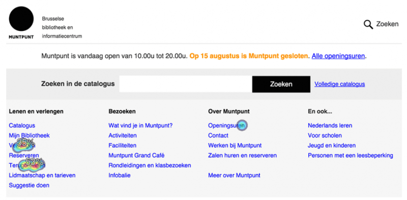 Screenshot test op Muntpunt