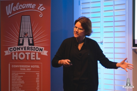 Els as keynote speaker at Conversion Hotel, The Netherlands, in 2017